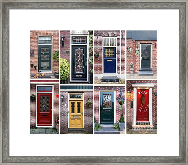 Door Background Framed Print