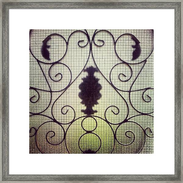 #door #glass #garden #art #home #house Framed Print