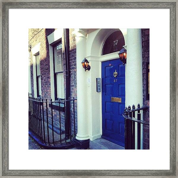 #door #house #light #liverpool #uk Framed Print
