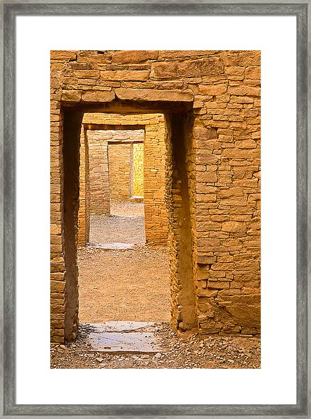 Doorway Chaco Canyon Framed Print