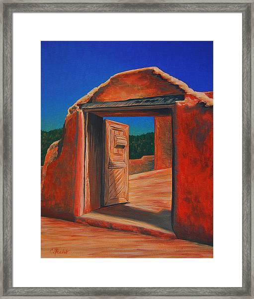Doorway To Las Trampas Framed Print