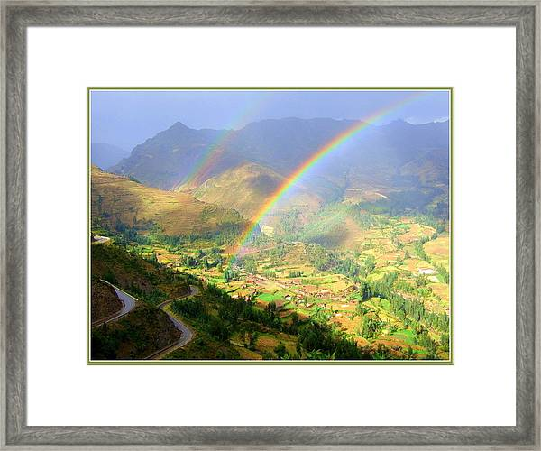 Double Rainbow Framed Print by Satya Winkelman