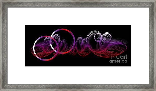 Double Wedding Rings Of Love Framed Print
