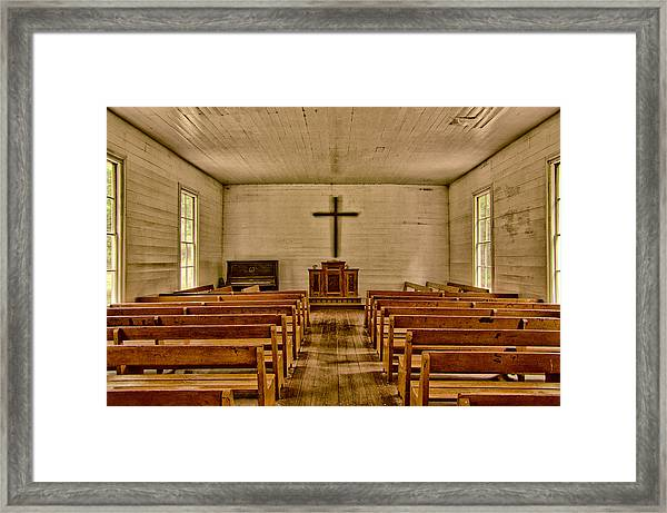 Down The Aisle Framed Print