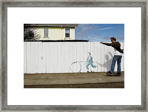 Framed Print featuring the photograph Downhill Buddy by Lorraine Devon Wilke