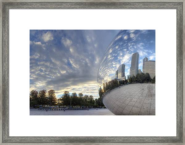 Downtown Chicago At Dawn Framed Print by Twenty Two North Photography