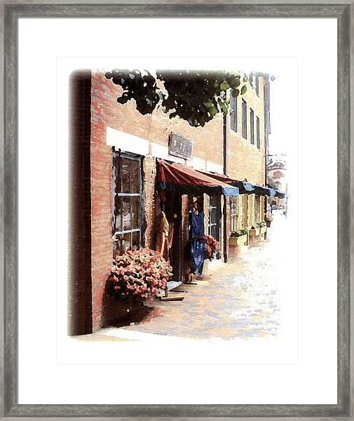 Downtown Newburyport Framed Print