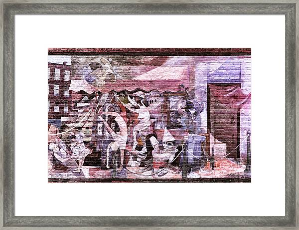 Downtown Northampton - Mural Framed Print by HD Connelly