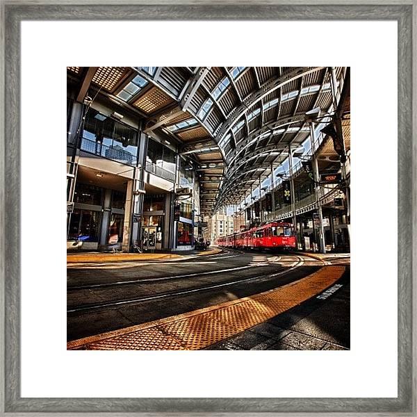 Downtown San Diego Trolley Station Framed Print