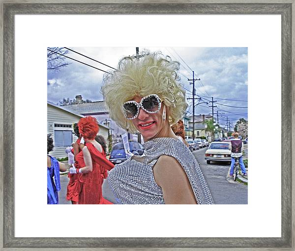 Drag Queen Supreme In New Orleans Framed Print