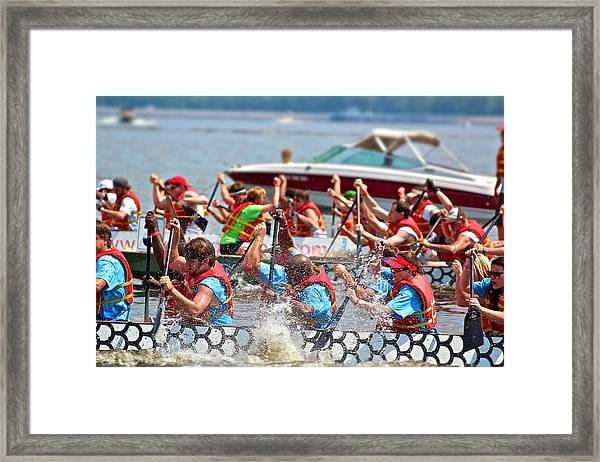 Dragon Boat Regatta 2 Framed Print