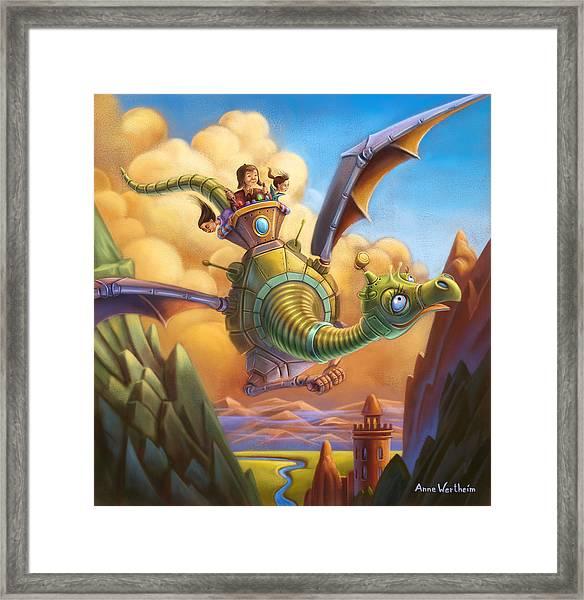 Dragon Contraption Framed Print