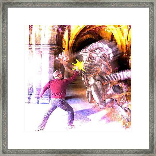Framed Print featuring the photograph Dragon Warrior by Michael Taggart