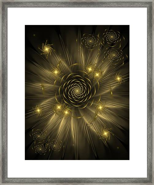 Dreaming Of Gold Framed Print