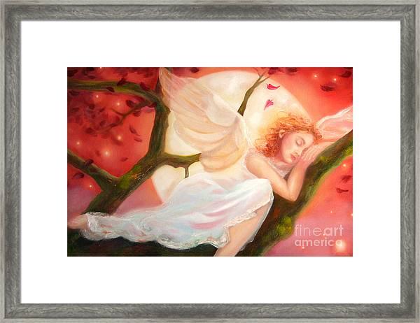Dreams Of Strawberry Moon Framed Print