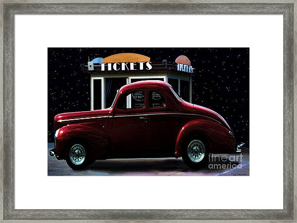 Drive In Movie Framed Print
