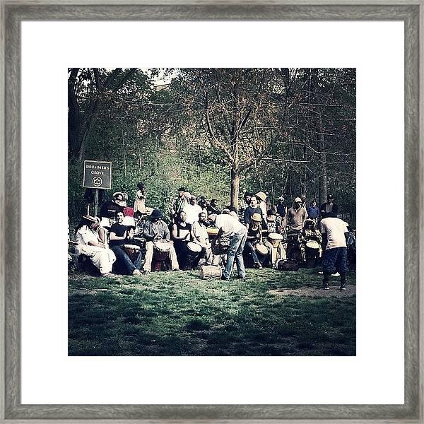 Drum Circle Framed Print