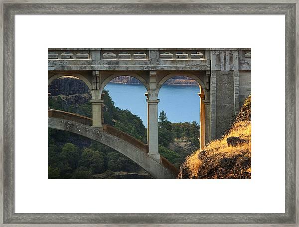 Dry Canyon Bridge Framed Print