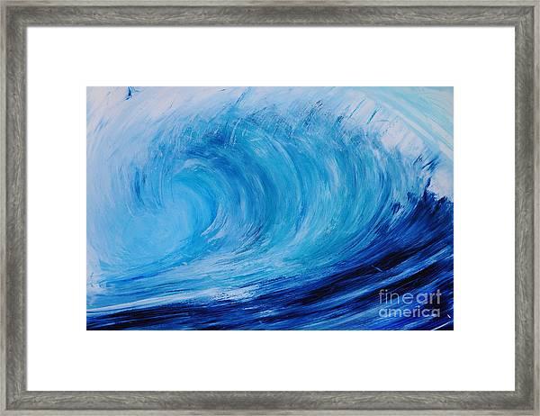 Drywave Framed Print