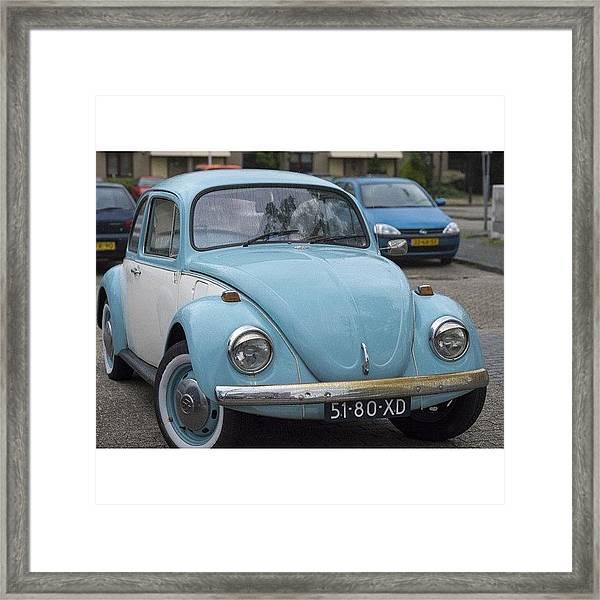 #duotone #vw #volkswagen #vintage Framed Print