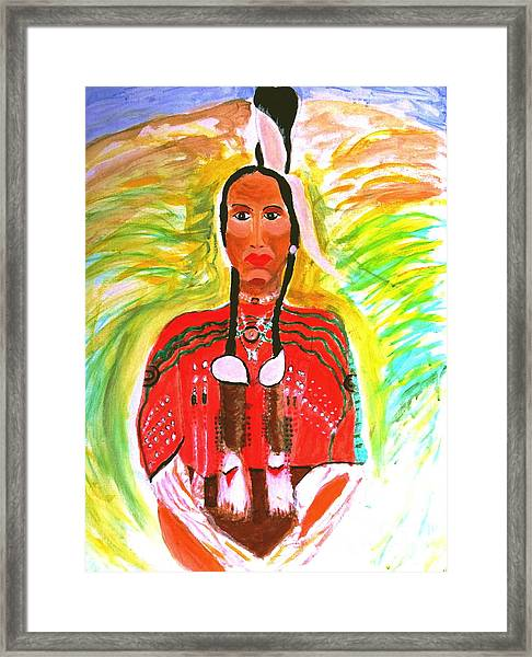 Eagle Feather Native American Framed Print