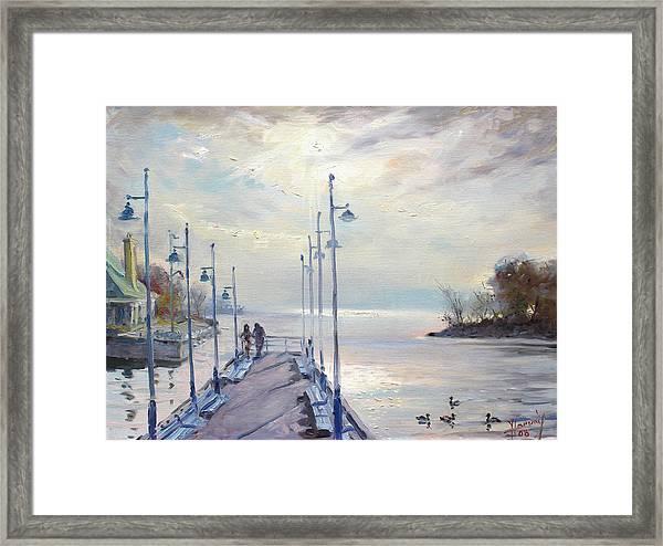 Early Morning In Lake Shore Framed Print