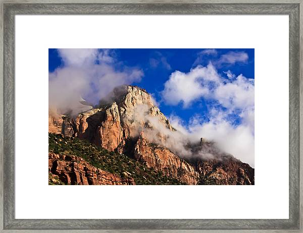 Early Morning Zion National Park Framed Print