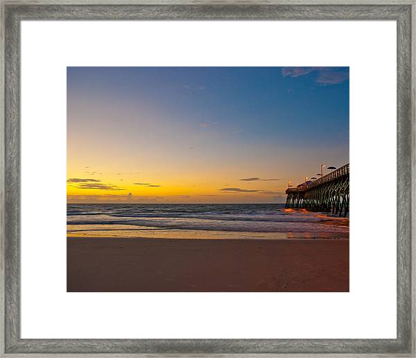 Framed Print featuring the photograph East Coast Sunrise by Francis Trudeau