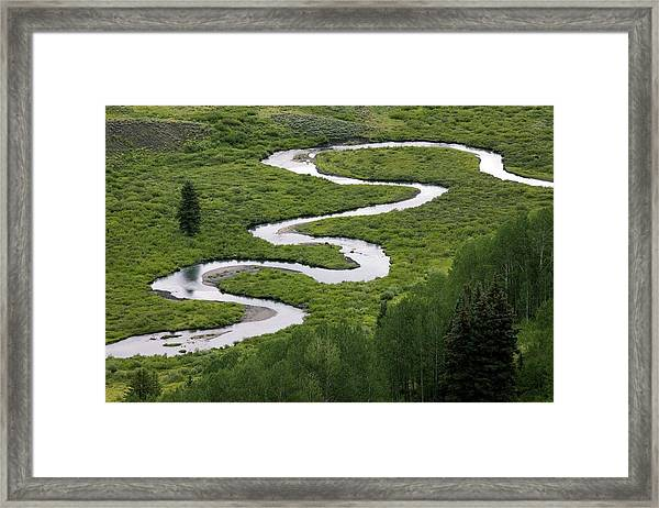 East River In Grand Mesa, Usa. Framed Print by Bob Gibbons