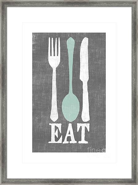 EAT Framed Print by Misty Diller