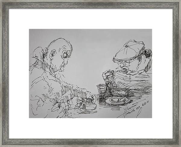 Eaters Framed Print