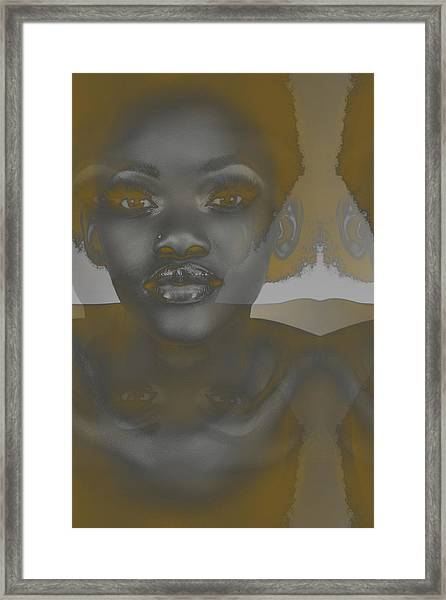 Ebony Framed Print by Naxart Studio