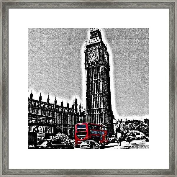Edited Photo, May 2012 | #london Framed Print
