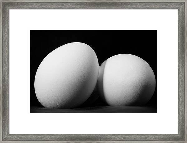 Eggs In Black And White Framed Print