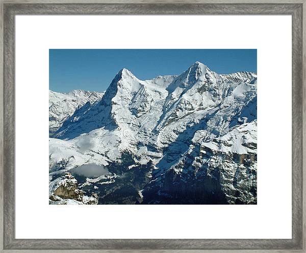 Eiger And Monsch Swiss Alps Framed Print