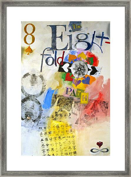Eight Of Spades 30-52 Framed Print