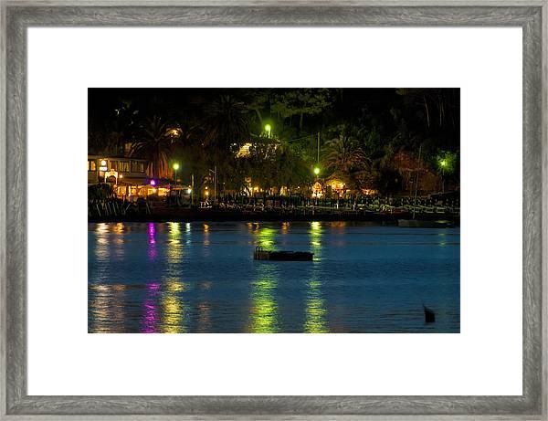Elba Island - Night Sea Reflections - Ph Enrico Pelos Framed Print