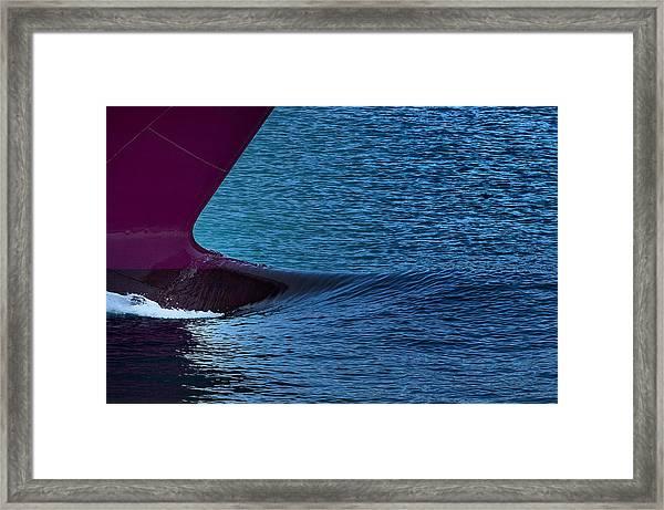 Elba Island - Purple Wave - Ph Enrico Pelos Framed Print