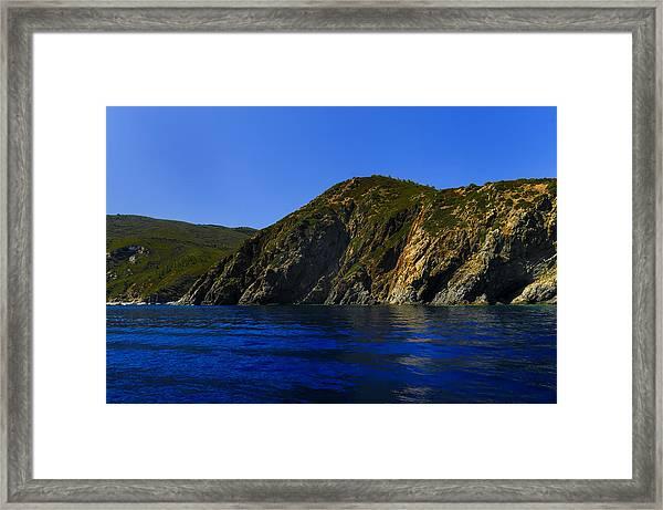 Elba Island - Blue And Green 2 - Blu E Verde 2 - Ph Enrico Pelos Framed Print