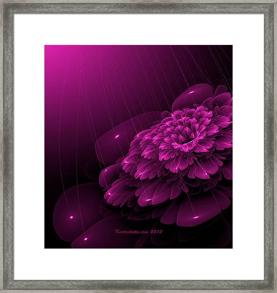 Electric Rain Framed Print