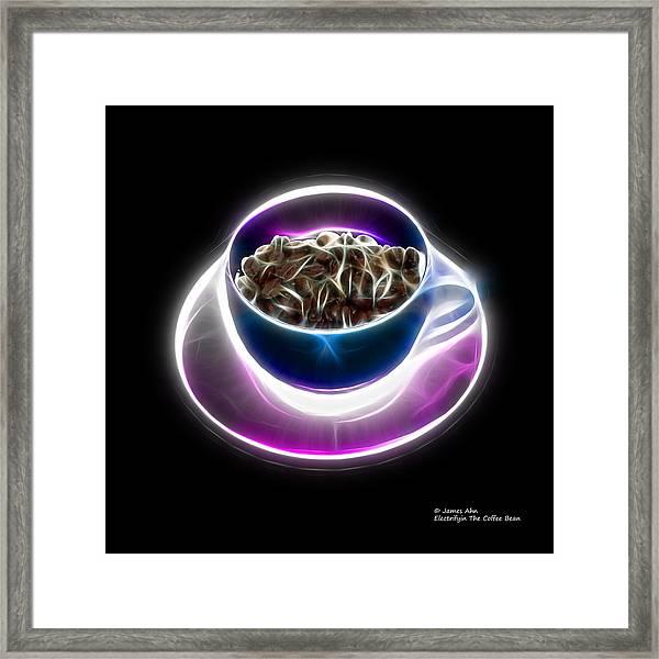Electrifyin The Coffee Bean -version Blue Framed Print