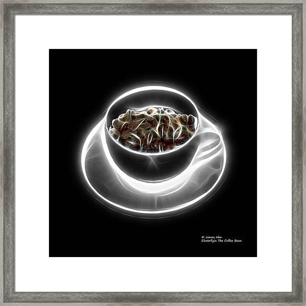 Electrifyin The Coffee Bean -version Greyscale Framed Print
