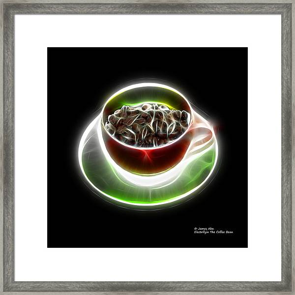Electrifyin The Coffee Bean -version Red Framed Print