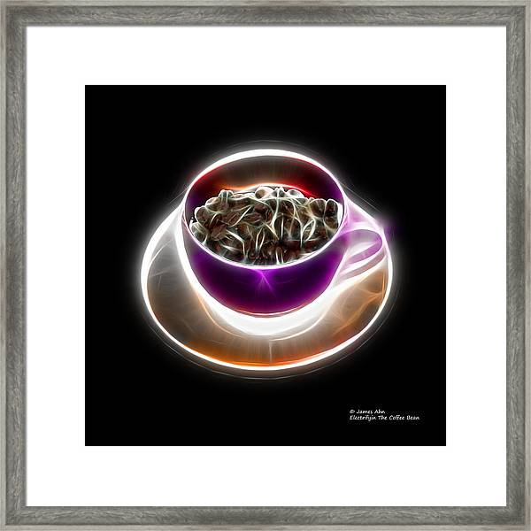 Electrifyin The Coffee Bean -version Violet Framed Print