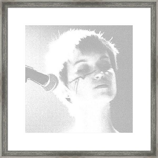 Elizabeth Baker Of Baker Family Band Framed Print