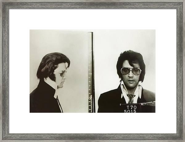 Elvis Mugshot 1970 Framed Print