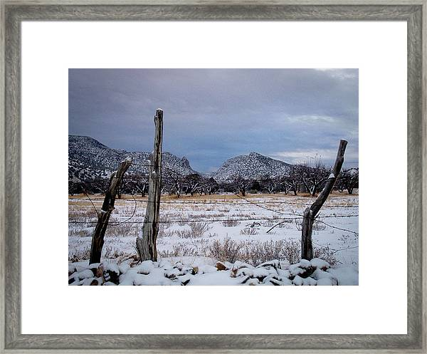 Embudo Canyon Framed Print