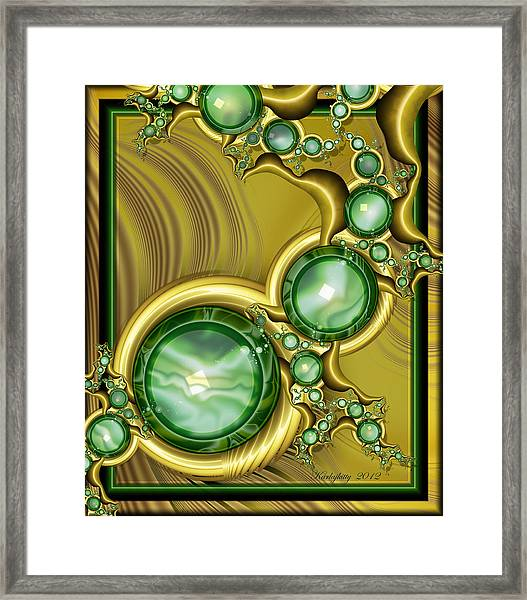 Emerald Gloss Framed Print