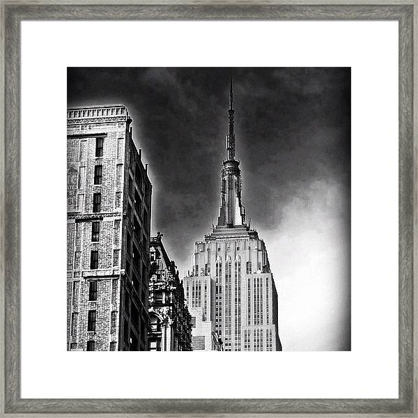 #empire #newyorker #ny #architecture Framed Print