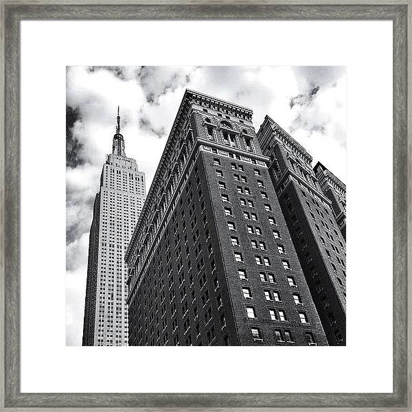 Empire State Building - New York City Framed Print